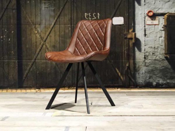Hout en metaal stoel